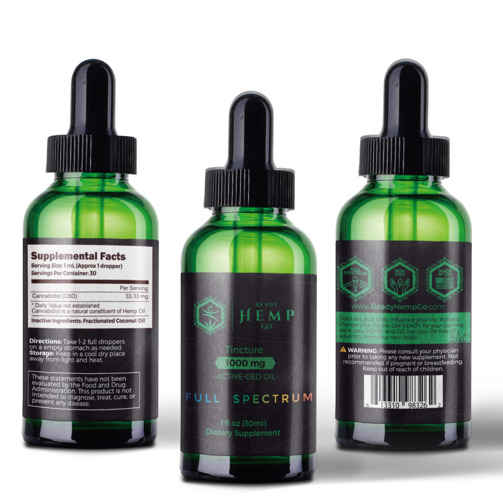 Full Spectrum CBD Oil Tincture by Ready Hemp Go Review
